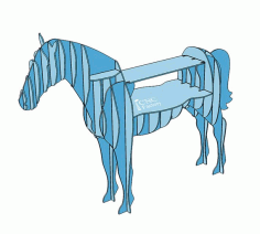 Chic Shelf In The Shape Of A Horse Free CDR Vectors Art
