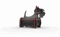 Laser Cut Shelf Dog Layout Free CDR Vectors Art
