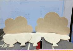 Laser Cut Cloud Shelves Free CDR Vectors Art