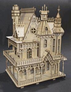 Laser Cut Fantasy Villa Free CDR Vectors Art