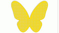 Laser Cut Butterfly For Beads For Knitting Layout Free CDR Vectors Art