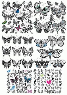 Vectors Butterfly Decor Free CDR Vectors Art