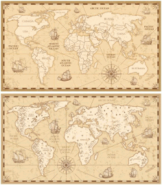 Laser Cut Engraved World Map Free CDR Vectors Art
