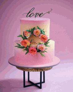 Laser Cut Love Cake Topper Free CDR Vectors Art