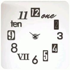 Laser Cut 3d Modern Wall Clock Layout Vector Free CDR Vectors Art