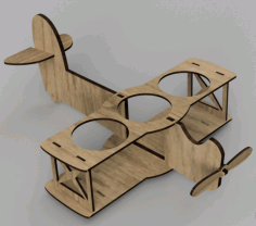 Laser Cut Airplane Beer Holder Free CDR Vectors Art
