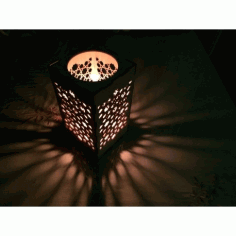 Laser Cut Candle Holder Nightlight Template Free CDR Vectors Art