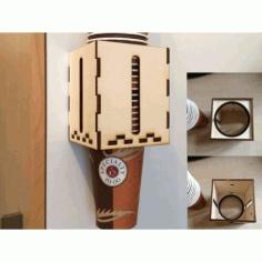 Laser Cut Wooden Cup Holder Template Free CDR Vectors Art