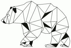 Laser Cut Bear Laser Drawing Free CDR Vectors Art