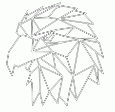 Laser Cut Of The Image Of An Eagle Free CDR Vectors Art