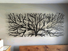 Laser Cut Triptych Tree Layout Free CDR Vectors Art