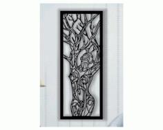 Layout Woman Tree Panel Free CDR Vectors Art