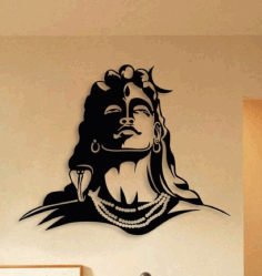 Lord Shiva Metal Art Free CDR Vectors Art