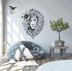 Myth Lion Housewarming Gift Exclusive Home Decor Metal Art Free CDR Vectors Art