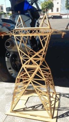 Laser Cut Electric Tower Free CDR Vectors Art