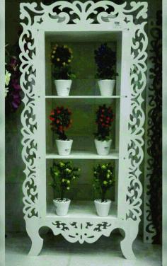 Laser Cut Wardrobe Shelf For Flowers Free CDR Vectors Art