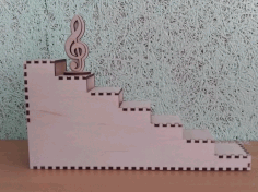 Wooden Ladder Stair Step Display Stand Laser Cutting Template Vectors Free CDR Vectors Art