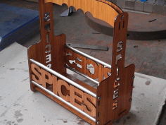 Laser Cut Spice Rack Ideas Free DXF File
