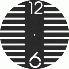 Laser Cut Wall Clock Simple Free DXF File