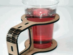 Cup Holder The Laser Cut Free DXF File
