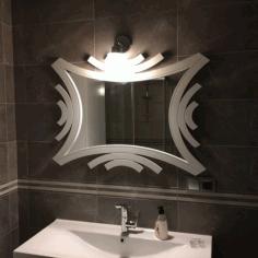 Laser Cut Ayna Bathroom Frame Free DXF File