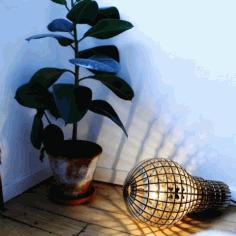 Laser Cut Lamp Bulb Layout Free DXF File