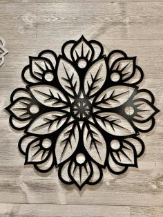 Laser Cut Flower Seamless Design Free DXF File