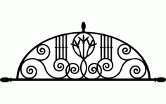 Laser Cut Ironwork Arch Floral Free DXF File