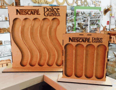 Laser Cut Nescafe Stand Free DXF File