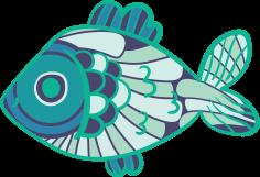 Fish Mandala Free DXF File