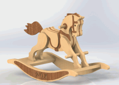 wooden Rocking Horse Free DXF File