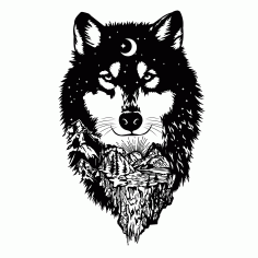 Wolf Clipart Vector Free DXF File