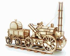 Laser Cut Constructor Locomotive Rocket Free CDR Vectors Art