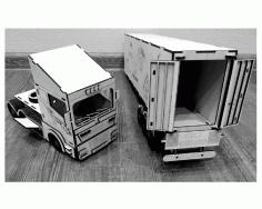 Laser Cut Layout  Truck Scania r580 Free CDR Vectors Art