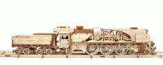 Laser Cut Locomotive Ugears Free CDR Vectors Art