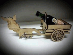 Laser Cut Minibar Donkey With A Cart Free CDR Vectors Art