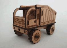 Laser Cut Model Of A Small Truck Free CDR Vectors Art
