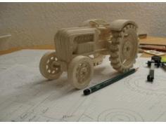 Laser Cut Tractor Wooden Layout Free CDR Vectors Art