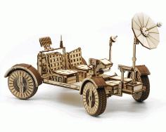 Lunar Rover Model For Laser Cutting Free CDR Vectors Art