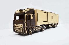 Volvo Fh Hdf Refrigerator Laser Cut From 3 Mm Plywood Free CDR Vectors Art