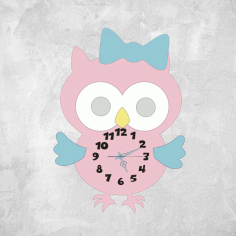 Multilayer Owl Clock Laser Cut Free CDR Vectors Art