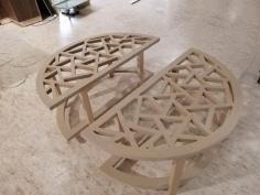 Laser Cut Coffee Table Free CDR Vectors Art