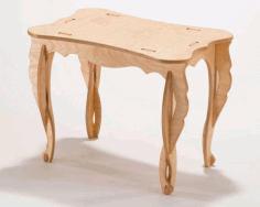 Laser Cut Flat Pack Coffee Table Free CDR Vectors Art