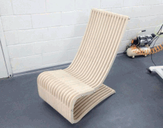 Laser Cut Layout Rocking Chair Free CDR Vectors Art