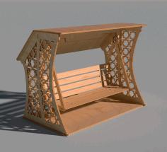 Laser Cut Wooden Decorative Swing Free CDR Vectors Art