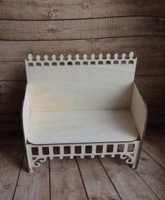 Laser Cut Wooden Sofa Furniture Free CDR Vectors Art