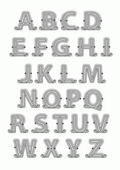 Alphabet 98 Free CDR Vectors Art