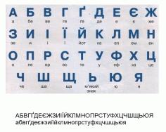 Ukrainian Alphabet Free CDR Vectors Art