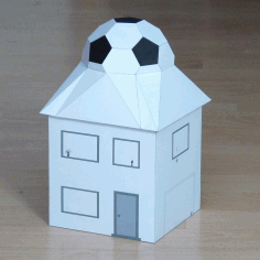 Football House Pepakura Pattern Template Free PDF File