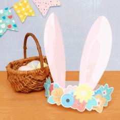 Laser Cut Crown Rabbit Ears Free PDF File